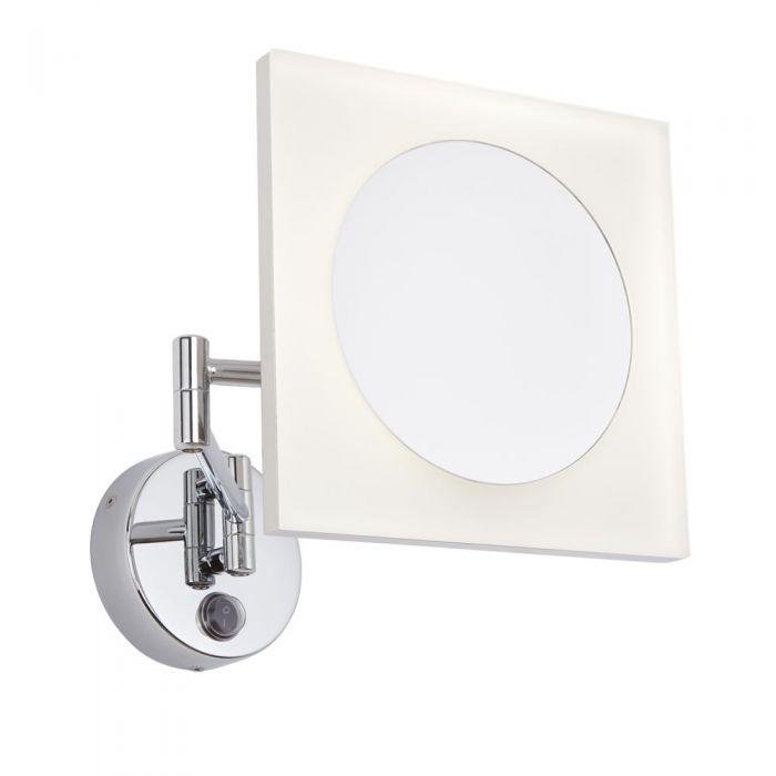 Miroir Grossissant Salle de Bains lumineux 3W Ladoga 20x20cm