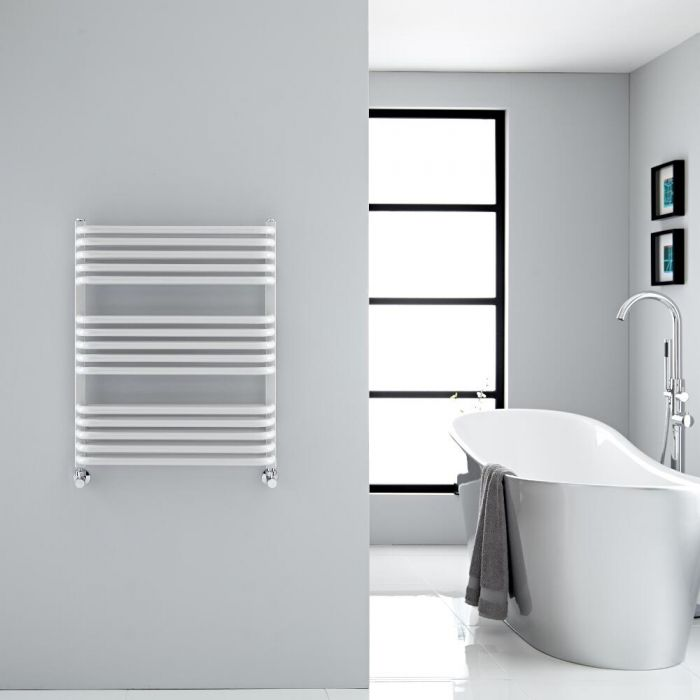 Sèche-serviettes eau chaude blanc Arch 73.6x60cm 896 watts