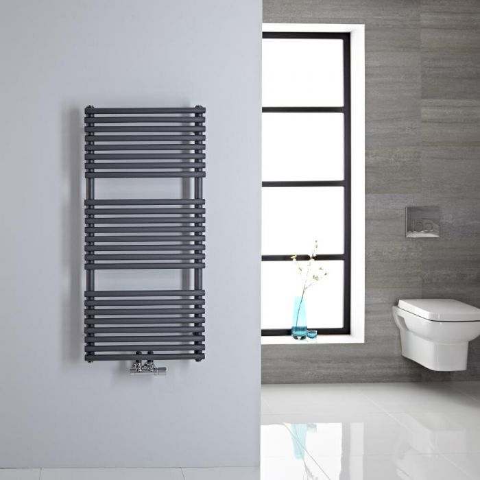 Sèche-serviettes eau chaude 100x50cm 334 watts Magera Anthracite
