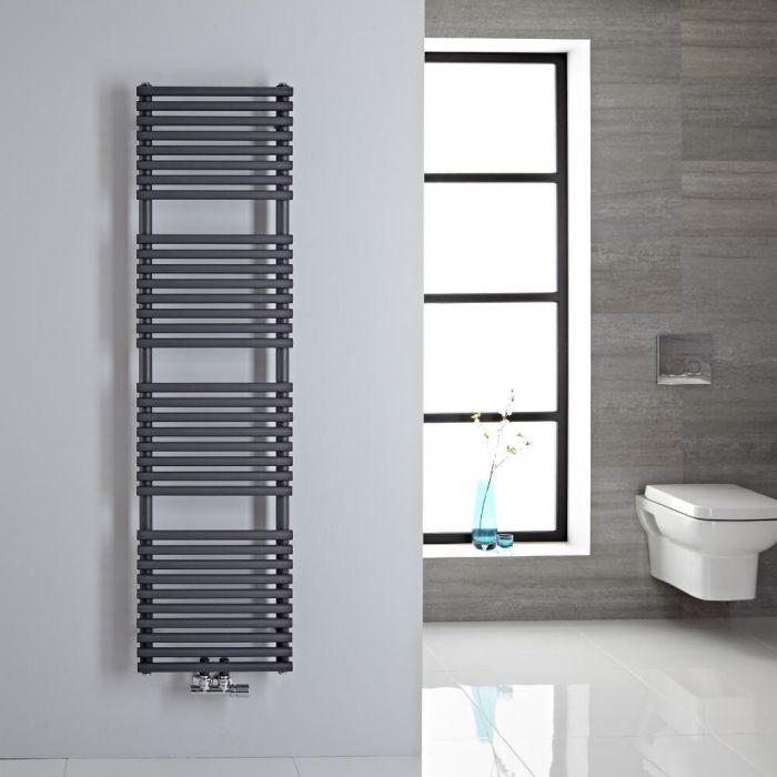 Sèche-serviettes eau chaude 150x40cm 408 watts Magera Anthracite