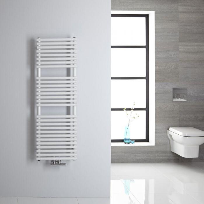 Sèche-serviettes eau chaude blanc 120x40cm 362 watts Magera