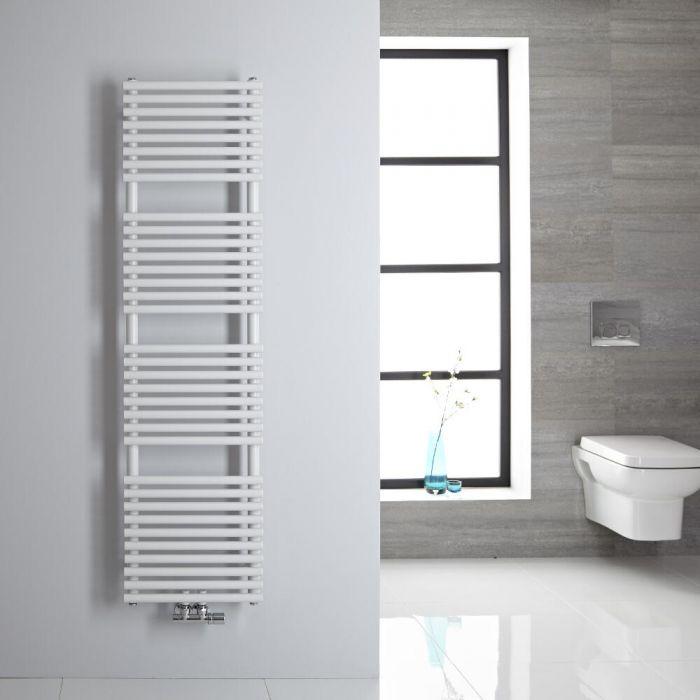 Sèche-serviettes eau chaude blanc 150x40cm 408 watts Magera