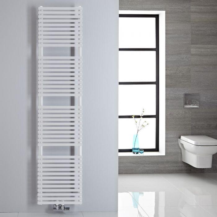 Sèche-serviettes eau chaude blanc 180x40cm 454 watts Magera