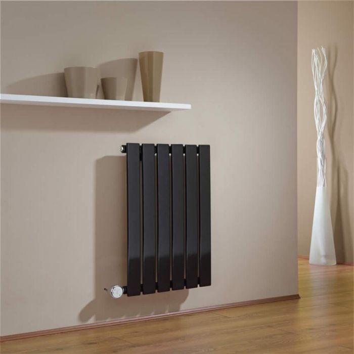 Radiateur Design Électrique Horizontal Noir Delta 63,5cm x 42cm x 4,6cm