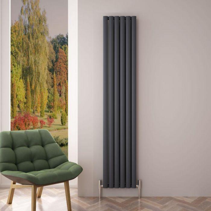 Radiateur Aluminium Design Anthracite 180 x 35cm 1502 watts Vitality Air