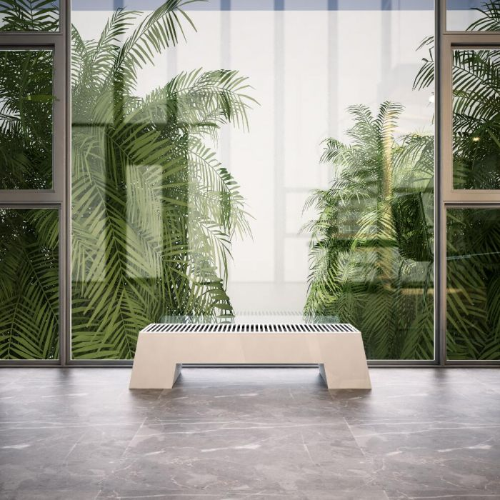 Radiateur Plinthe Adva Blanc 20 x 80 x 29,6 cm 520 watts