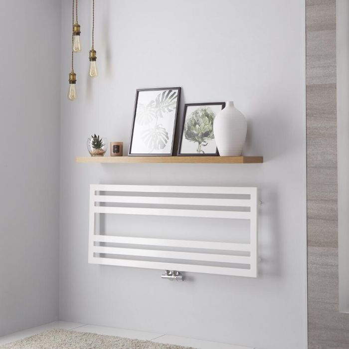 Sèche-serviettes Blanc Design Ponza - 50cm x 120cm