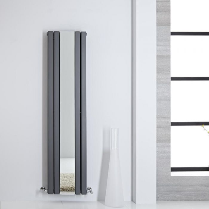 Radiateur miroir anthracite Sloane 160 x 38.5cm 1212 watts