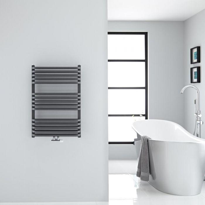 Sèche-serviettes eau chaude Arch anthracite 73.5x50cm 752 watts