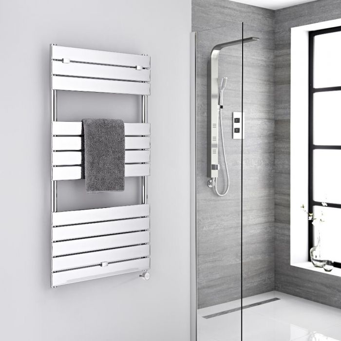 Sèche-serviettes électrique Chromé 121.3 x 60cm Lustro