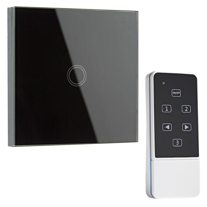 Biard Interrupteur Design Télécommandé Tactile Noir