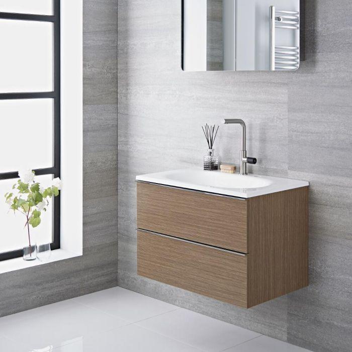 Meuble-lavabo 75x48x70cm Randwick Chêne & Mitigeur