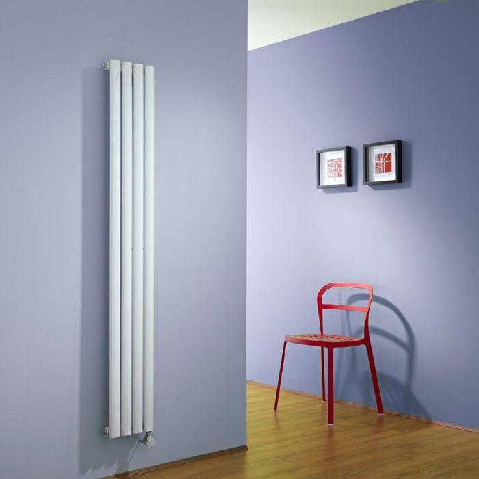Radiateur Design Électrique Vertical Blanc Vitality 160cm x 23,6cm x 5,6cm