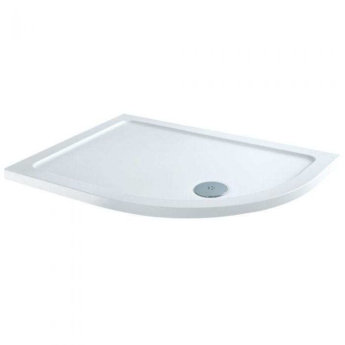 Receveur de douche Quart de rond - Angle gauche 100x80cm