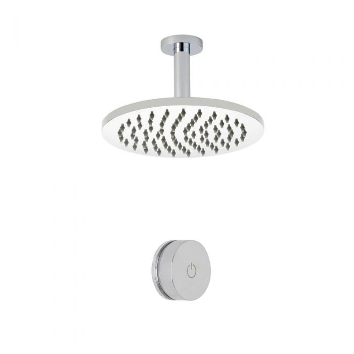 Douche Digitale Thermostatique 1 Fonction & Pommeau de Douche Plafond Ø 20cm - Narus