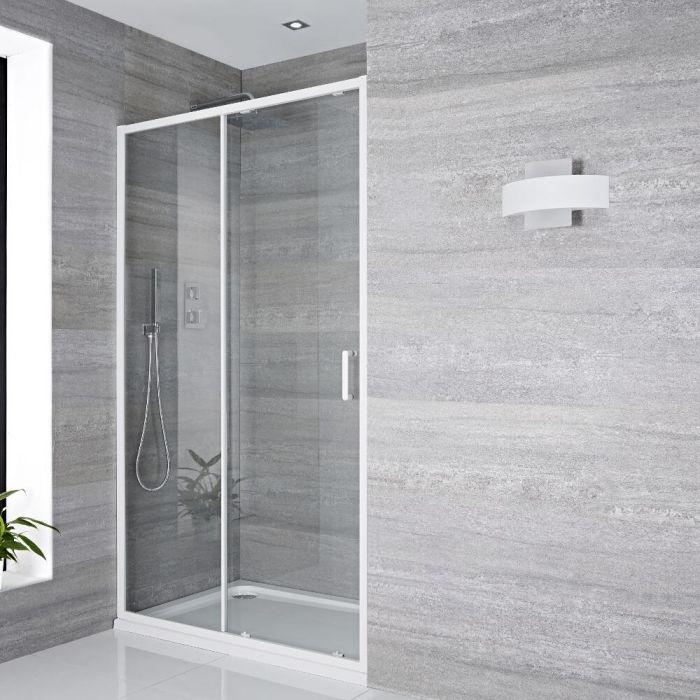 Porte de douche Coulissante 100x195cm Lux Blanc