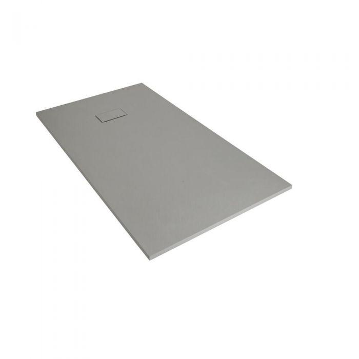 Receveur de douche rectangulaire gris perle 90x80cm