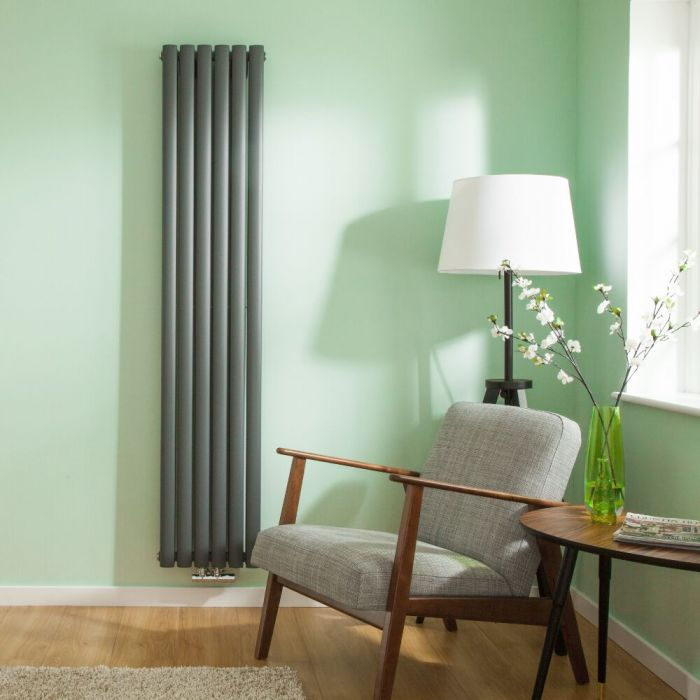 Radiateur Design Vertical 178 x 35.4cm Vitality Caldae Anthracite 1301 watts