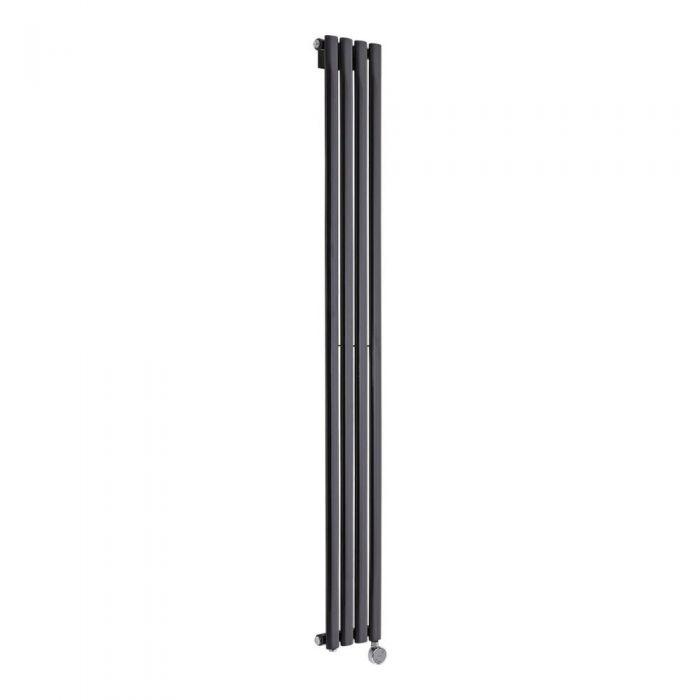 Radiateur Design Électrique Vertical Noir Vitality 178cm x 23,6cm x 5,6cm