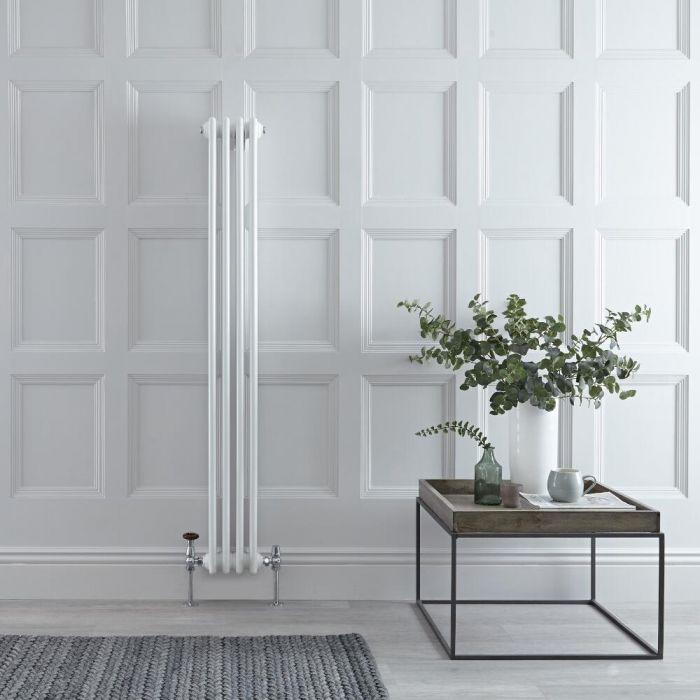 Radiateur Vertical Style Fonte Blanc Windsor 150cm x 20,3cm x 10cm 694 Watts
