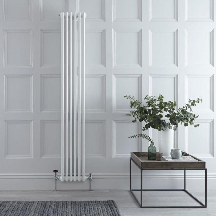 Radiateur Vertical Style Fonte Blanc Windsor 180cm x 29,3cm x 10cm 1169 Watts