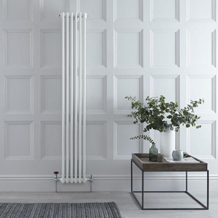 Radiateur Vertical Style Fonte Blanc Windsor 180cm x 29cm x 6,8cm 934 Watts