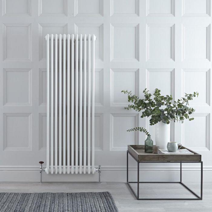 Radiateur Vertical Style Fonte Blanc Windsor 150cm x 56,3cm x 10cm 2081 Watts