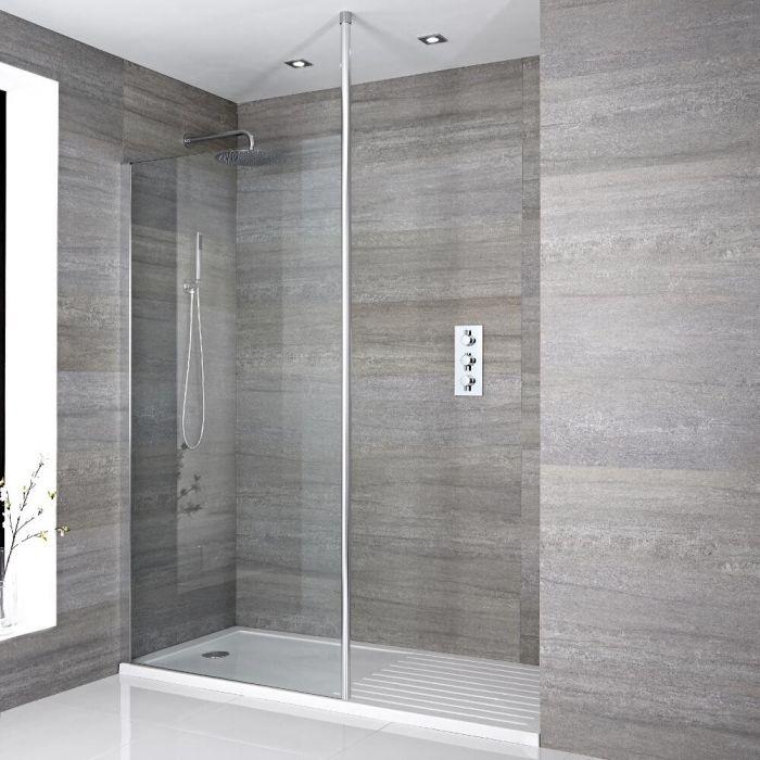 paroi de douche 80cm avec bras stabilisateur recoupable receveur 140 x 90cm sera. Black Bedroom Furniture Sets. Home Design Ideas
