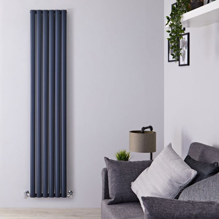 Radiateur Aluminium Design Anthracite 180 x 35cm 1502 watts Vitality Air