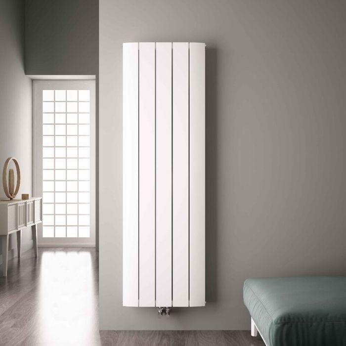 Radiateur Design Vertical Raccordement Central Aluminium Blanc Aurora 180cm x 47cm x 4,6cm 1919 Watts