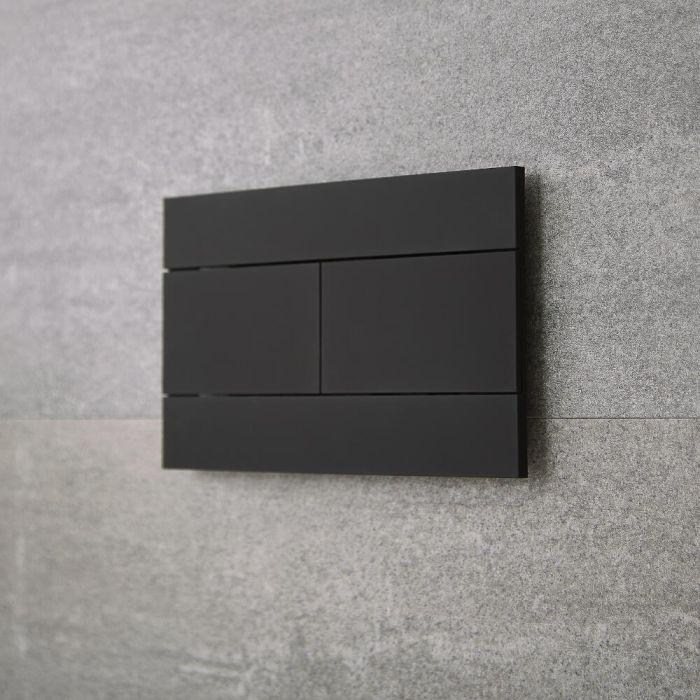 Plaque de déclenchement WC noire - Nox