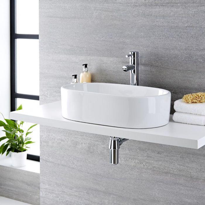 Vasque  à poser ovale 55 x 34cm Otterton & Mitigeur Haut