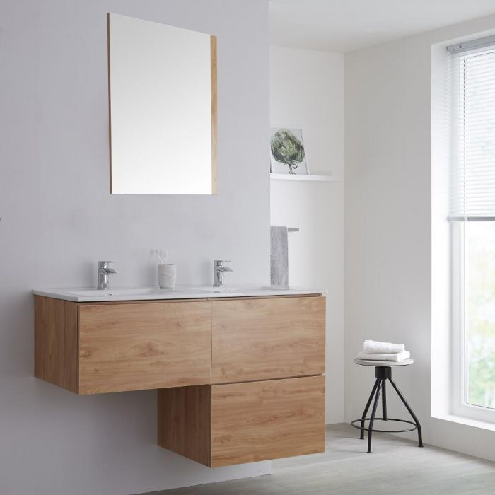 Meuble salle de bain avec vasque Chêne Newington - 120cm