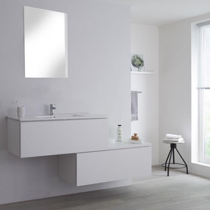 Meuble salle de bain blanc avec vasque Newington - 160cm