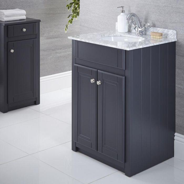 Meuble-lavabo 60x60cm Charlton Anthracite