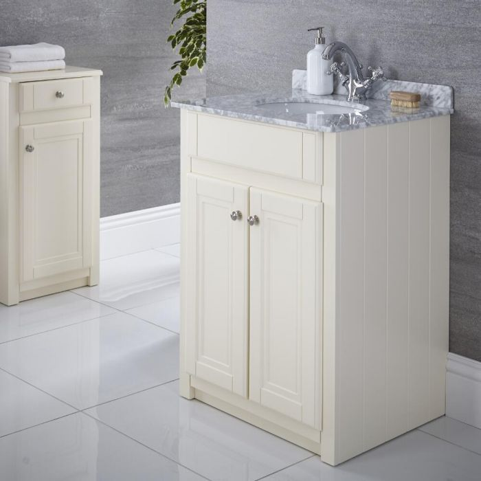 Meuble-lavabo 60x60cm Charlton Ivoire