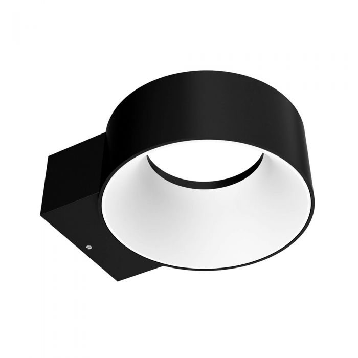 Applique Murale Ronde LED 8W IP65 Halo Faro Noir