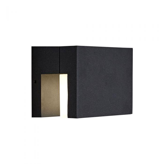 Biard Tun - Applique murale extérieur carrée anthracite ou noir - IP65 - LED 9W