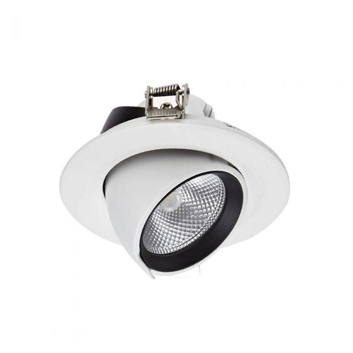 Biard Spot LED Encastrable 10 Watts Dimmable & Orientable Blanc Ø9.6cm