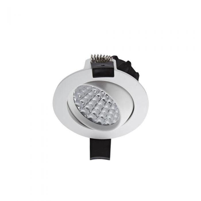 Biard Spot LED Encastrable 7 Watts Dimmable & Orientable Blanc Ø8.1cm