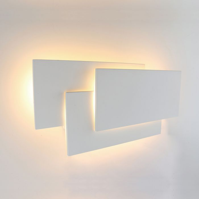 Biard Applique murale rectangulaire LED 12W - Piran Blanc