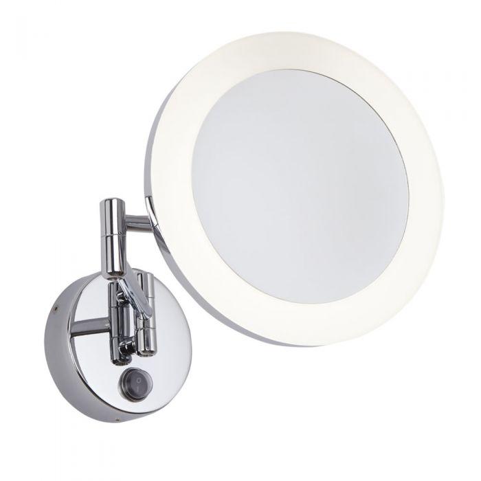 Miroir Grossissant Salle de Bains lumineux 3W Monoun Ø 20cm