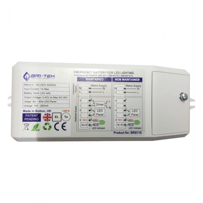Bri-Tek Batterie rechargeable pour Plafonnier Led 8-60W