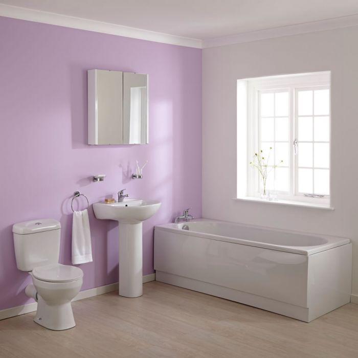 Ensemble Baignoire 170x70cm Lavabo & WC Moderne