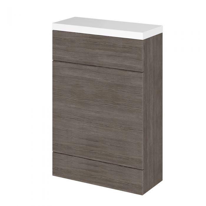 Meuble coffrage pour WC wengé gris brun 50 x 86.4 x 23.5cm