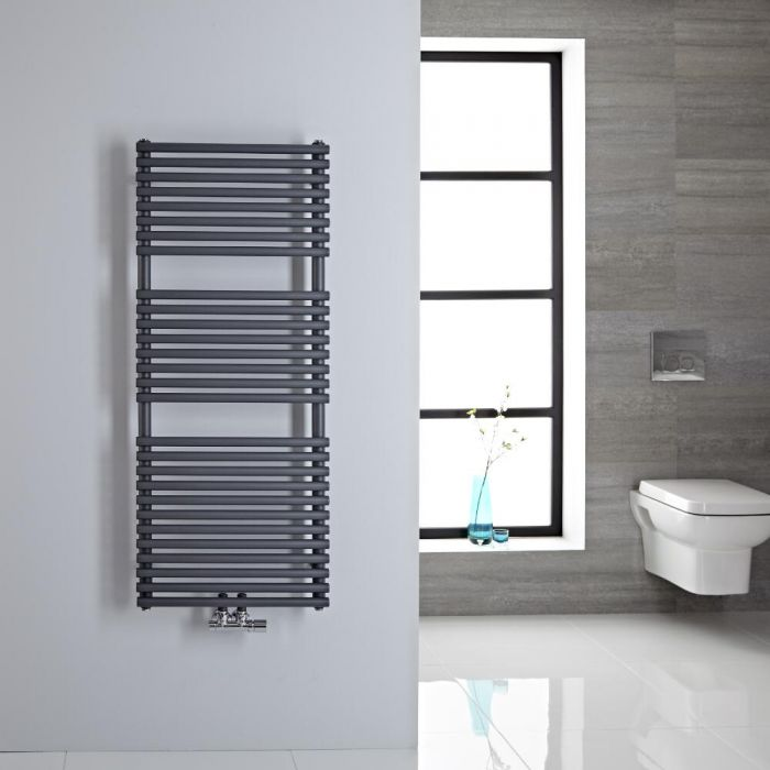 Sèche-serviettes eau chaude 120x50cm 362 watts Magera Anthracite