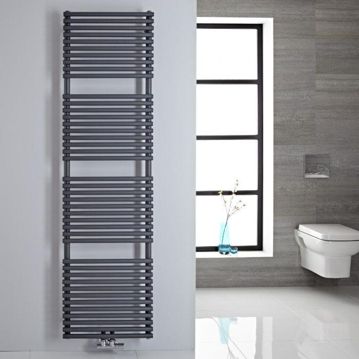 Sèche-serviettes eau chaude 180x50cm 456 watts Magera Anthracite