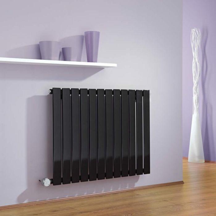 Radiateur Design Électrique Horizontal Noir Delta 63,5cm x 84cm x 4,6cm