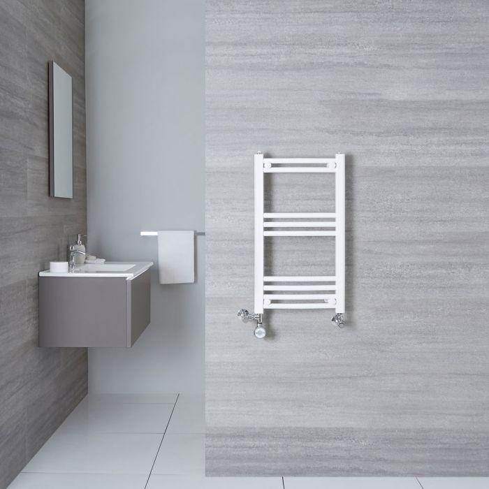 Sèche-Serviettes Mixte Incurvé Blanc Etna 70cm x 40cm x 3,8cm 280 Watts