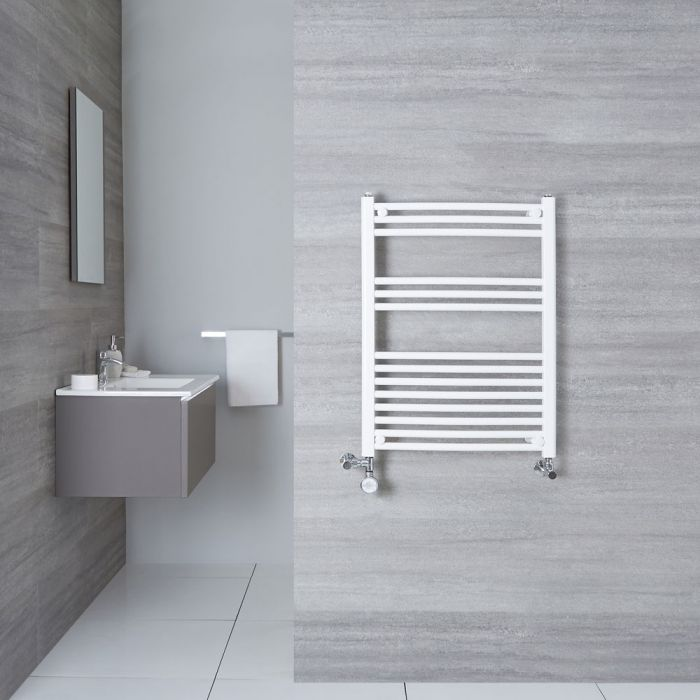 Hudson Reed Sèche-Serviettes Mixte Incurvé Blanc Etna 80cm x 60cm x 5cm 482 Watts